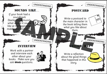 Multiple Intelligences/Blooms Reading Response Task Cards