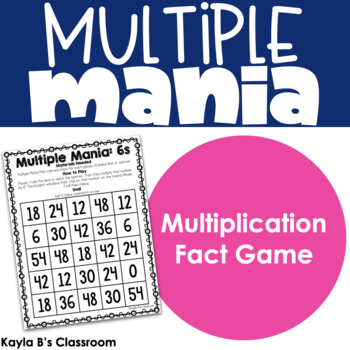 Multiple Mania: A Multiplication Fact Game