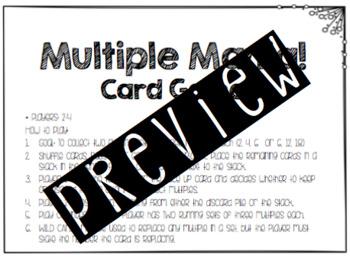 Multiple Mania Card Game