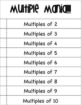Multiple Mania Flipbook
