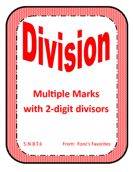 Multiple Mark Division Task Cards