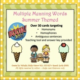 Multiple Meaning Boom Cards - Summer Themed