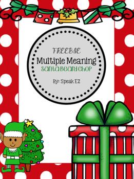 Multiple Meaning Christmas Santa Beard Chop