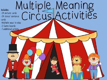Multiple Meaning Circus Activities