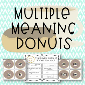 Multiple Meaning Donuts
