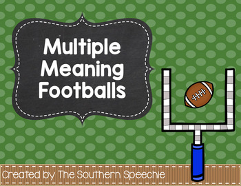 Multiple Meaning Footballs