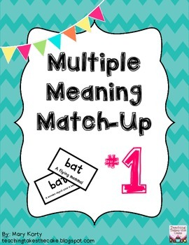 Multiple Meaning Match-Up #1