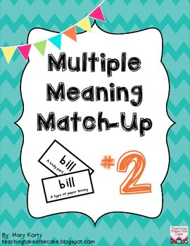 Multiple Meaning Match-Up #2