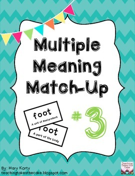 Multiple Meaning Match-Up #3
