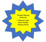 Multiple Meaning Match-Up: A Game for Teaching about Multi