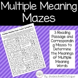 Multiple Meaning Mazes