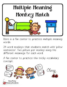 Multiple Meaning Monkey Match