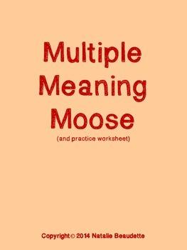 Multiple Meaning Moose! (game & worksheet)
