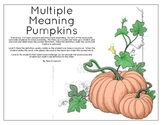 Multiple Meaning Pumpkins