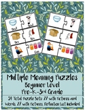 Multiple Meaning Puzzles: Beginner Level