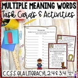 Multiple Meaning Words Task Cards & Activities