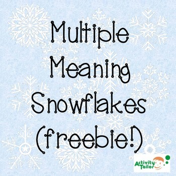 Multiple Meaning Snowflake Self-Checking Worksheet FREEBIE