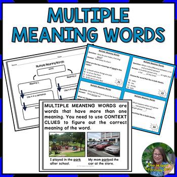 #teachersremember Multiple Meaning Task Cards