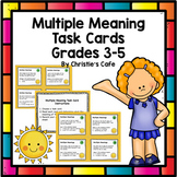 Multiple Meaning Task Cards Grades 3-5