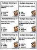 Multiple Meaning Words Task Cards, Scoot Game, and Quick Assessment