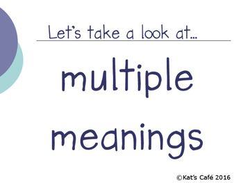 Multiple Meaning-Using Context Clues