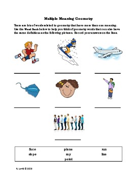 Multiple Meaning Vocabulary - Geometry terms