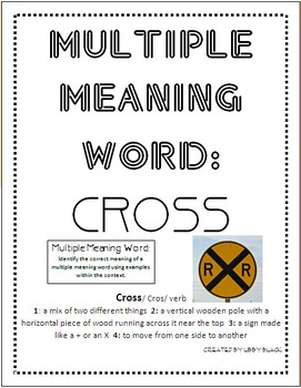 Multiple Meaning Word
