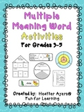 Multiple Meaning Word Activities
