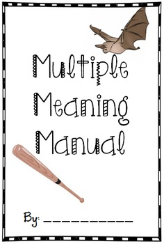 Multiple Meaning Word Book/Manual