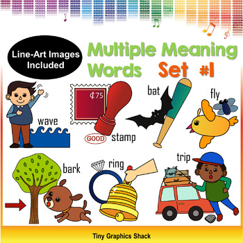 Multiple Meaning Words Clipart Set #1 (Homonyms)