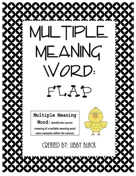 Multiple Meaning Word- Flap