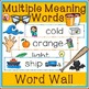Multiple Meaning Words - Illustrated Word Wall