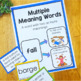 Multiple Meaning Word Task Cards, Posters, and Worksheet