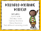 Multiple-Meaning Word Match