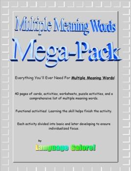 Multiple Meaning Words Mega-Pack
