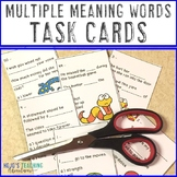 Multiple Meaning Words Task Cards | Multiple Meaning Words