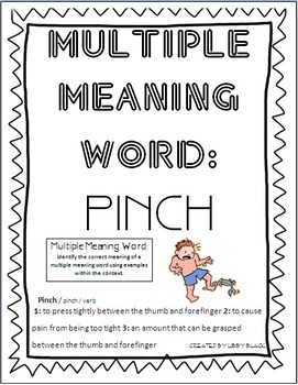 Multiple Meaning Word- Pinch