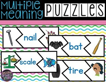 Multiple Meaning Words Puzzles (Homographs)