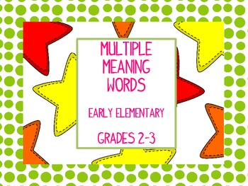 Multiple Meaning Word Stars Level 1