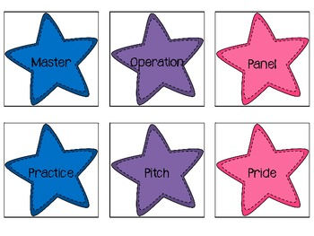 Multiple Meaning Word Stars Level 3