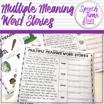 Multiple Meaning Word Stories