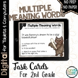Multiple Meaning Words Task Cards: 2nd Grade Vocabulary for Google Classroom Use