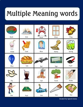 Multiple Meaning Word Unit:  Games, Bingo and Task Cards