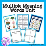 Multiple Meaning Words Activities, Games, Task cards and Bingo
