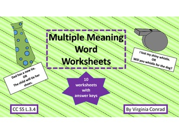 Multiple Meaning Words--10 Worksheets