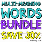 Multiple Meaning Words Worksheets, Task Cards, and PowerPoint BUNDLE ⭐️SAVE 30%⭐