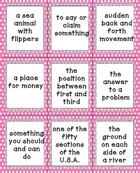 Multiple Meaning Words Literacy Center