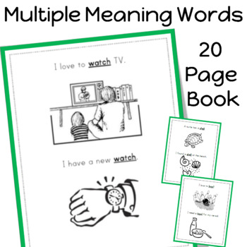 Multiple Meaning Words Book (20 pages)