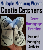 Multiple Meaning Words Activity: Homographs Foldable 3rd, 4th, 5th, 6th Grade