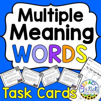 Multiple Meaning Words Task Cards for Grades 3-5